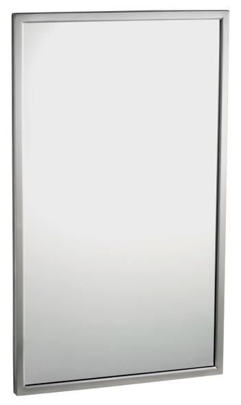 Bobrick B-2908 2436 Tempered Glass Welded-Frame Mirror