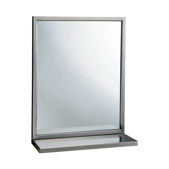 Bobrick B-292 2436 Welded-Frame Mirror/Shelf Combination