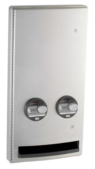 Bobrick B-47064C ConturaSeries® Semi-Recessed Napkin/Tampon Vendor