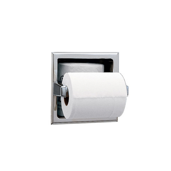 Bobrick B-663 Recessed Toilet Tissue Dispenser w/Storage for Extra Roll
