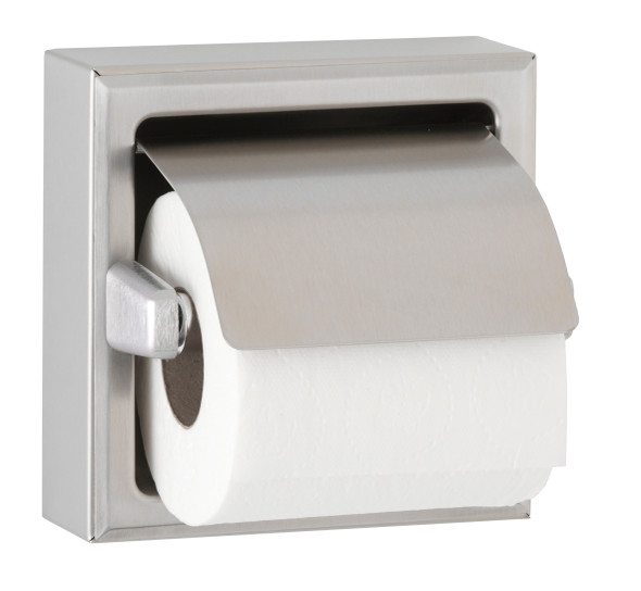 Bobrick B-6699 Surface-Mounted Toilet Tissue Dispenser with Hood