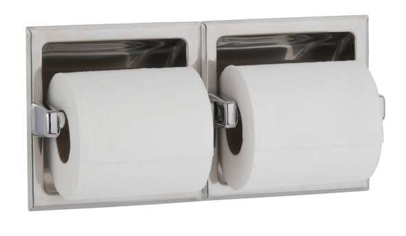Bobrick B-6977 Recessed Toilet Tissue Dispenser