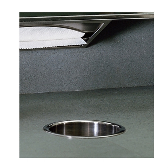 Bobrick B-532 TrimLineSeries™ Countertop-Mounted Circular Waste Chute