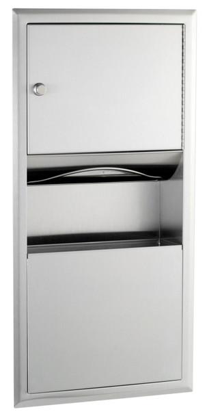 Bobrick B-369 ClassicSeries® Recessed Paper Towel Dispenser/Waste Receptacle