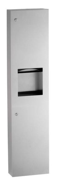 Bobrick B-380349 TrimLineSeries™ Surface-Mounted Paper Towel Dispenser/Waste Receptacle