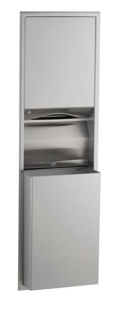 Bobrick B-3944 ClassicSeries® Recessed Convertible Paper Towel Dispenser/Waste Receptacle