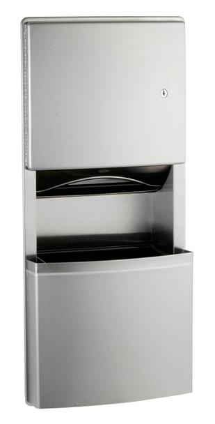 Bobrick B-4369 ConturaSeries® Recessed Paper Towel Dispenser/Waste Receptacle with TowelMate and LinerMate