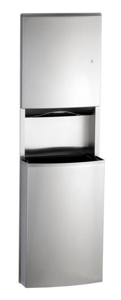 Bobrick B-43944 ConturaSeries® Recessed Paper Towel Dispenser/Waste Receptacle