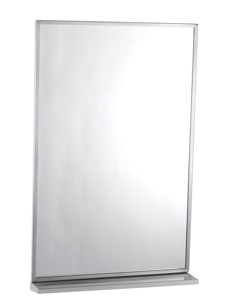Bobrick B-166 1836 Series Channel-Framed Mirror/Shelf Combination