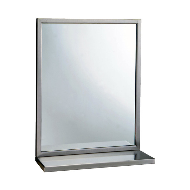 Bobrick B-292 1830 Welded-Frame Mirror/Shelf Combination