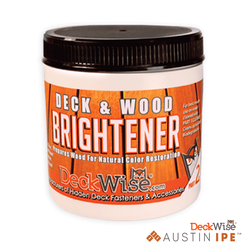 Deck and Wood Brightener Prepares Wood For Natural Color Restoration AustinIPE
