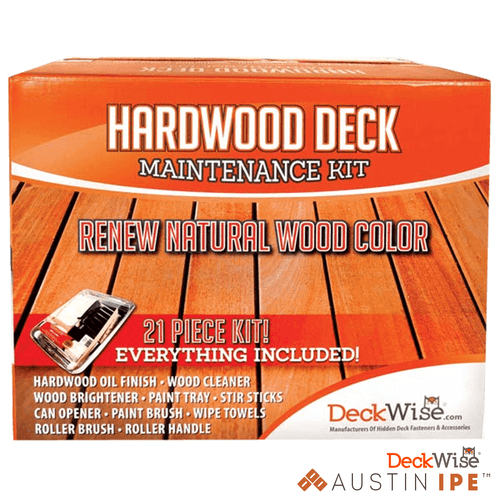 Hard Wood Deck Maintenance Restoration Kit Inlcudes 21 essential items to restore deck to natural beauty AustinIPE