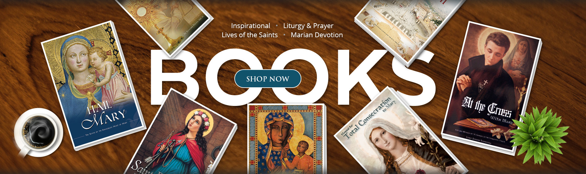 Catholic books banner. Click to go to our Books section.
