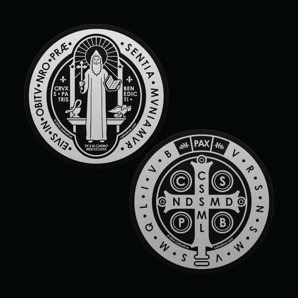 Saint Benedict Medal transparent Car Decal
