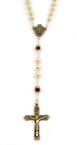 Pearl and Ruby Rosary