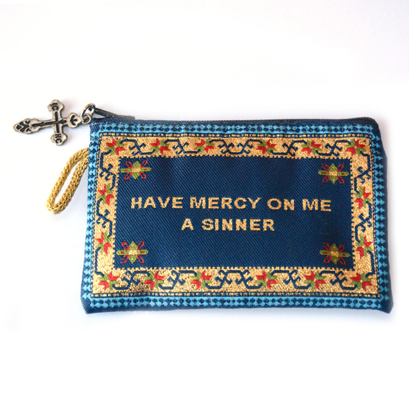 Jesus Prayer Rosary Pouch - Blue