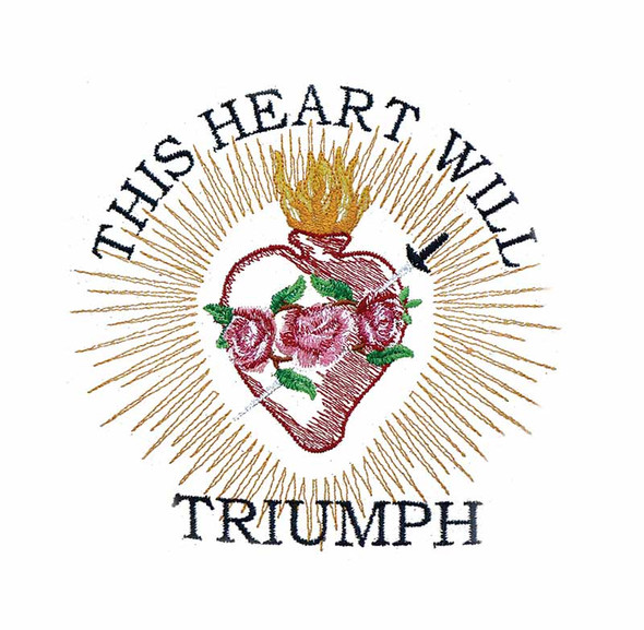 This Heart will Triumph Embroidery