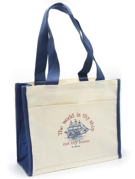 Saint Therese Quote / Ship embroidered Tote