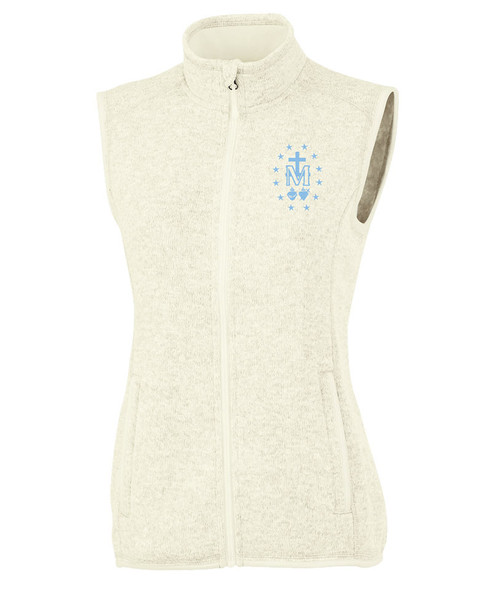 Women's Heather Vest with Miraculous Medal Embroidery