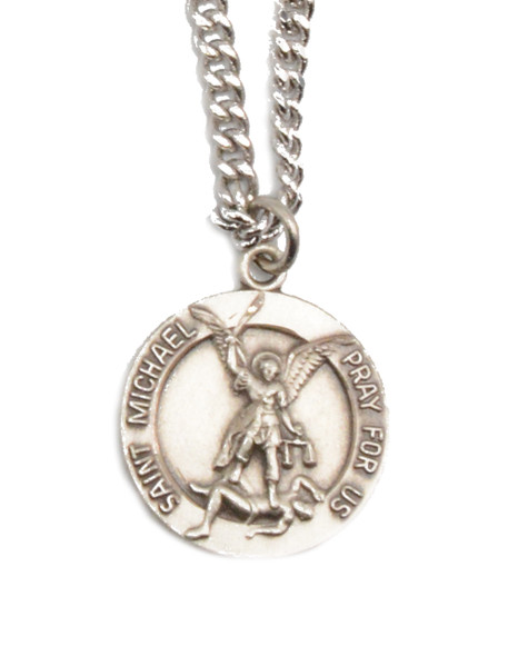 Sterling Saint Michael Medal