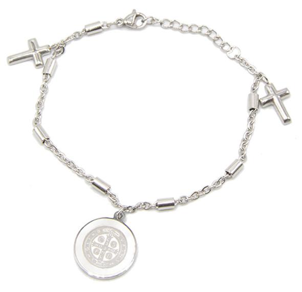 Saint Benedict Stainless Steel Bracelet