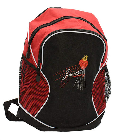 Jesus Mercy - Divine Mercy Embroidered Backpack