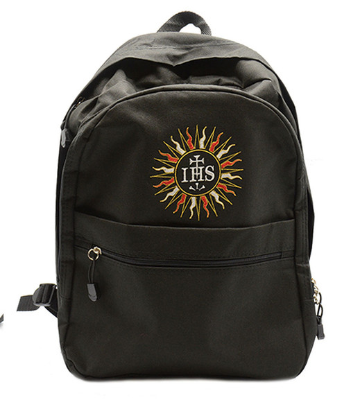 Holy Name of Jesus IHS - Embroidered Backpack