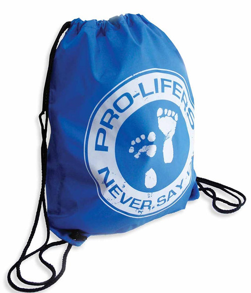Pro-Lifers, Never say die, Cinch backpack