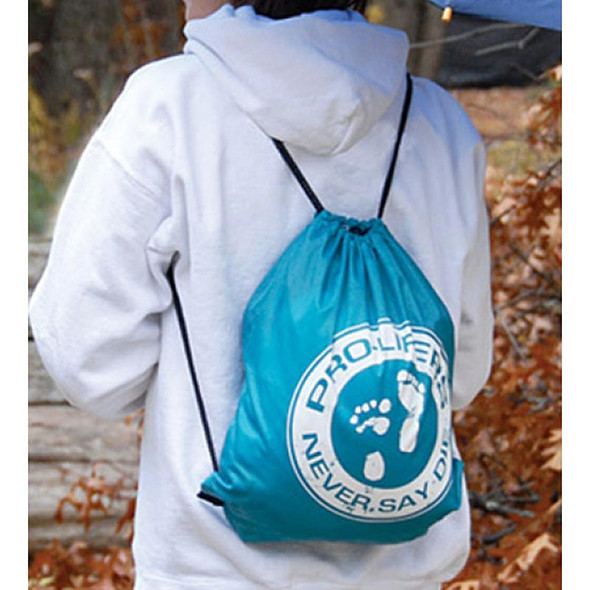 Pro-life cinch backpack