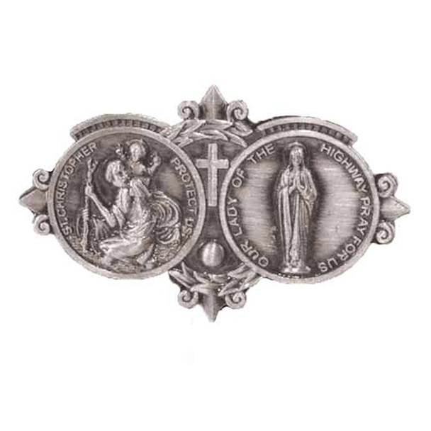 Our Lady and Saint Christopher Auto Visor Clip