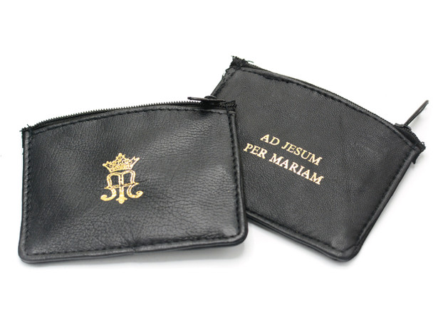 True Devotion - Leather Rosary Case