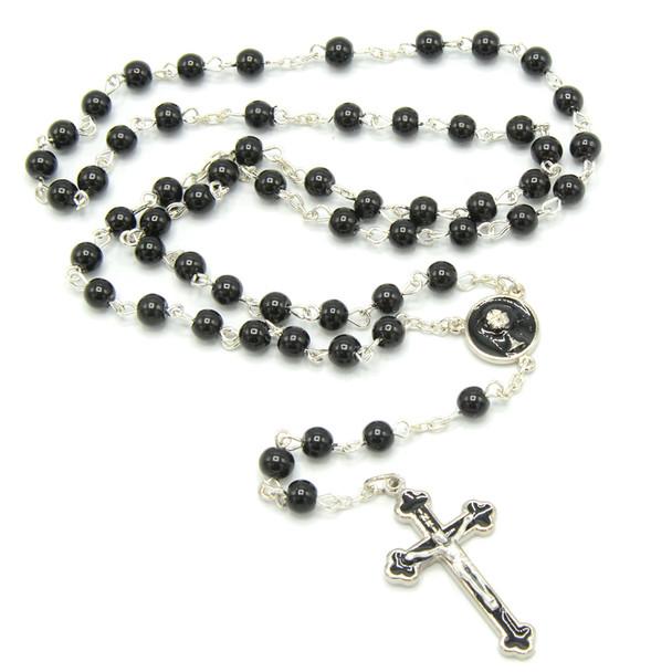 Deluxe Black Communion Rosary