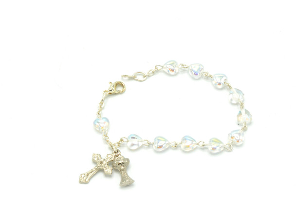 Heart-shaped Communion Bracelet