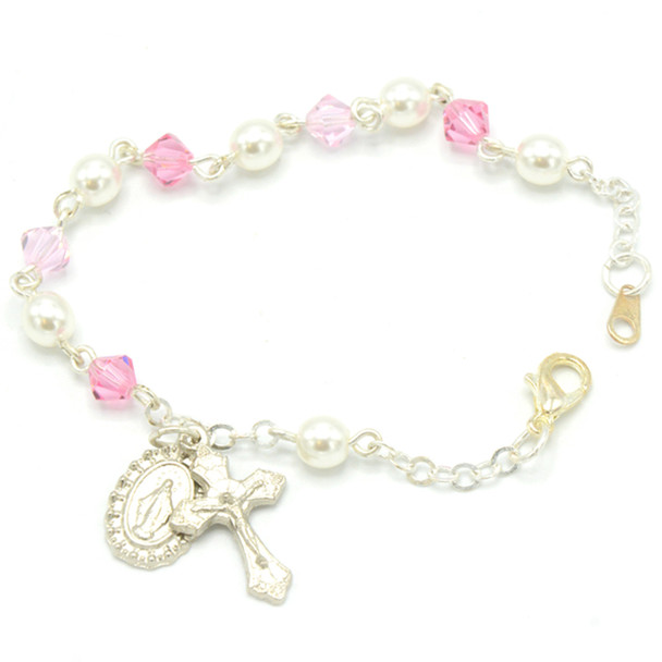 Pink-toned Communion Bracelet