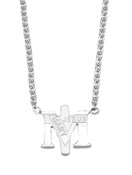 Stainless Steel True Devotion to Mary Necklace