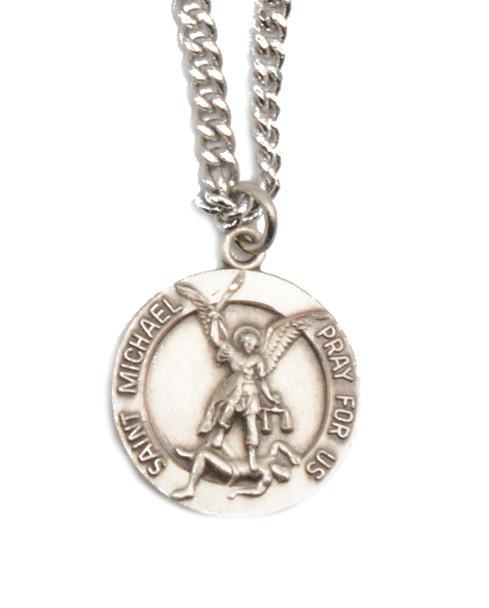 Sterling Saint Michael Medal