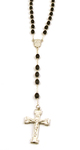 Men's Black Bead Rosary