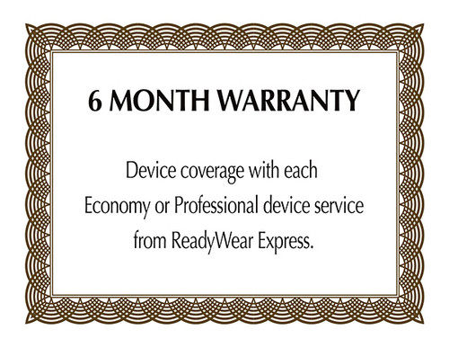 Your device will be repaired to original factory speficiations and covered by a 6 month warranty.
