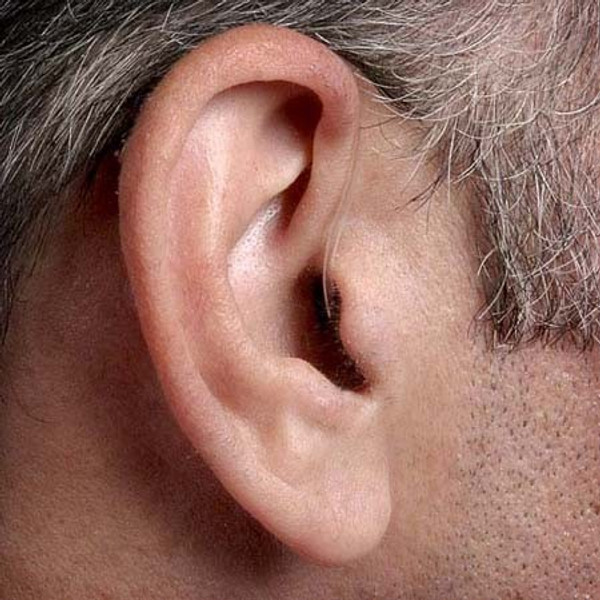 Discreetly fits behind the ear!