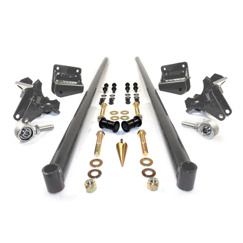 2001-2010 Chevrolet / GMC 75 Inch Bolt On Traction Bars 3.5 Inch Axle Diameter Raw HSP Diesel