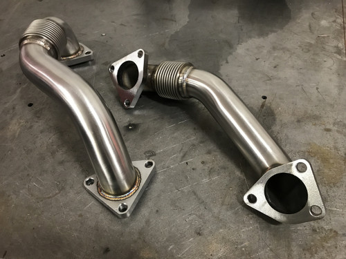 2001-2016 Chevrolet / GMC 2 Inch Replacement Up-Pipes Raw HSP Diesel