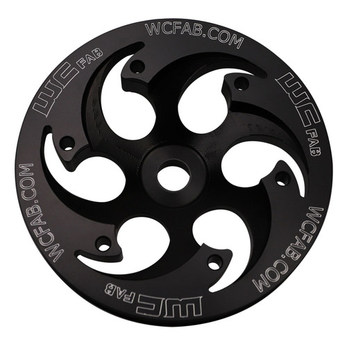 2001-2016 Duramax Twin CP3 Pulley Deep Offset Black Anodized Finish