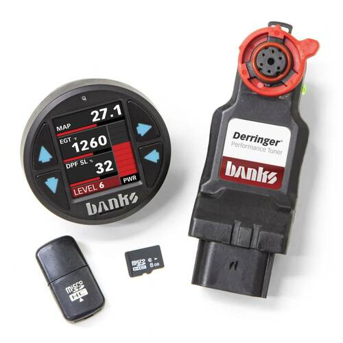 Derringer Tuner with iDash 1.8 DataMonster with ActiveSafety 17-19 Ford 6.7 Banks Power