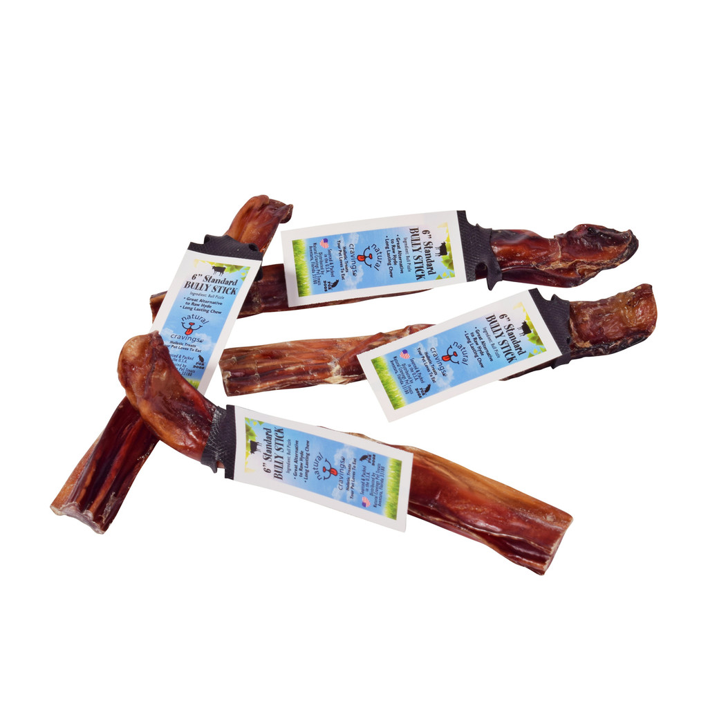 "Natural Cravings Standard 12"" Bully Sticks are sourced and packed in the U.S.A. and ""odor free"". These bully sticks are processed in a USDA American Certified factory.  Our bully sticks are an all-natural chew that is 100% digestible."