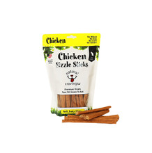 Our Chicken Jerky Sticks are made from U.S. chicken. Chicken Sizzle Sticks help support cognitive brain function and help build a healthy immune system. This high protein tender jerky is guaranteed to become one of your dog's favorites.