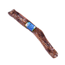 Natural Cravings all natural Monster Beef Trachea are 12 to 16 inches in length and 20% thicker than most other trachea in the market.  Our Trachea is unbleached and an amazing chew for dogs that is 100% digestible. Trachea is full of Glucosamine and Chondroitin which is good for joint health.