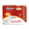 Tranquility EliteCare Disposable Briefs with Tabs, Maximum