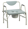 McKesson Bariatric Commode Chair with Drop Arm