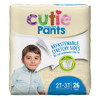 Cutie Pants Disposable Male Toddler Training Pants, Heavy, CR7007, Sea Animals, Size 2T-3T, Up to 34 lbs - Case of 104