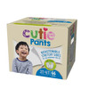 Cutie Pants Disposable Male Toddler Training Pants, Heavy, CR8007, Sea Animals, Size 3T-4T, 32-40 lbs - Bag of 23